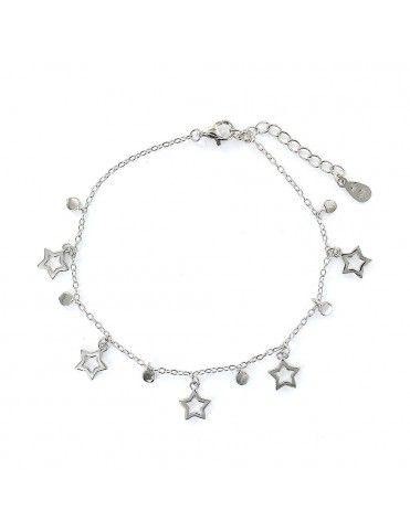 Pulsera plata estrellas 9108272