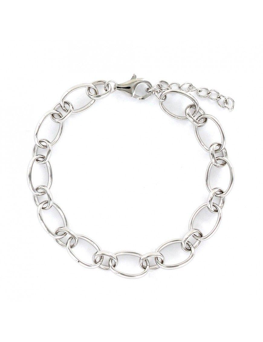 Pulsera plata de eslabones 9109127