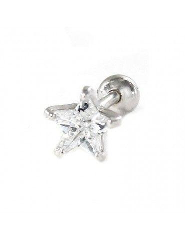 Pendiente suelto de plata estrella 9109348