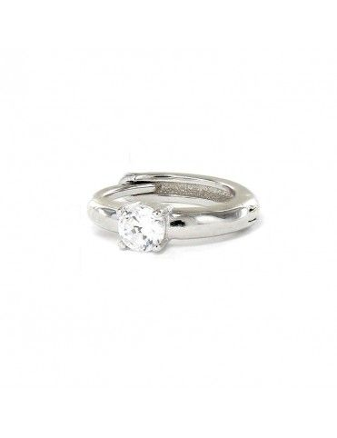 Pendiente suelto plata aro circonita 9109355