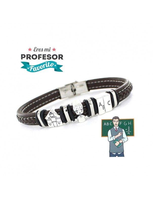 Pulsera plata y acero profesor 9109461