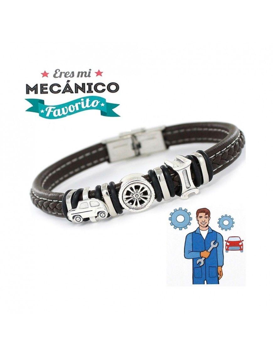 Pulsera plata y acero mecánico 9109467