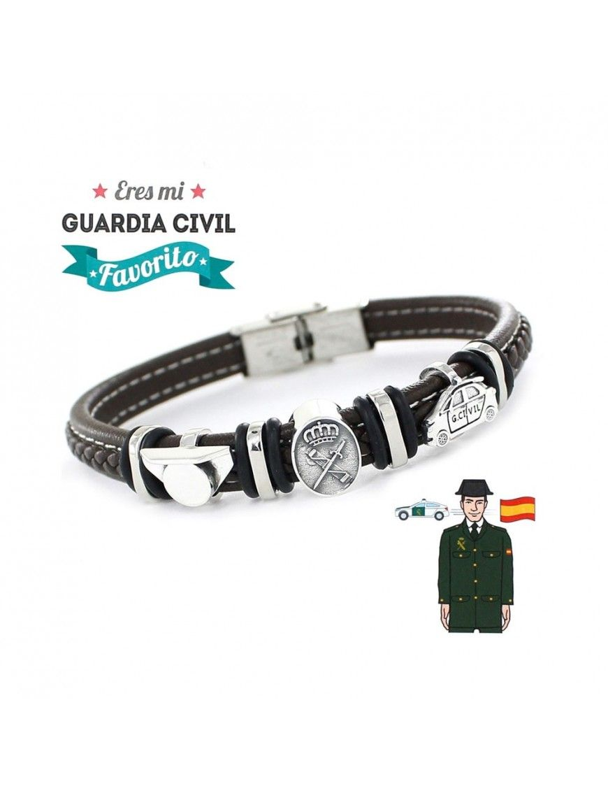 Pulsera plata y acero Guardia Civil 9109469