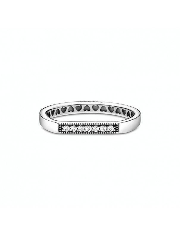 Anillo Pandora en plata de ley Barra Brillante 199041C01-54