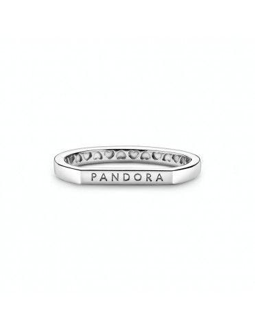 Anillo Pandora en plata de ley Barra Logo Pandora 199048C00-52