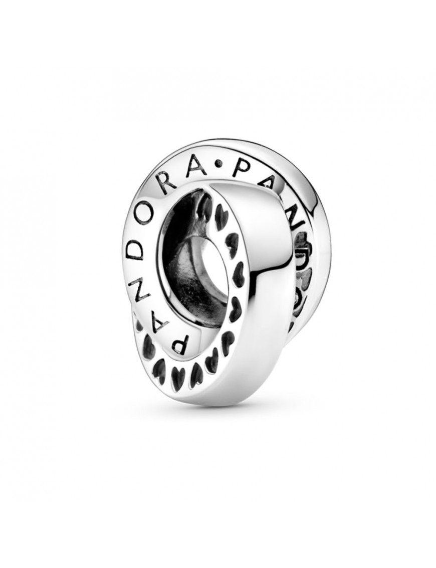 Separador Pandora en plata de ley Logo y Corazones 799035C00