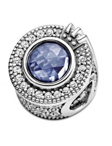 Charm Pandora en plata de ley Corona Azul Reluciente 799058C01