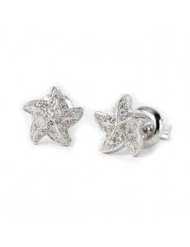 Pendientes de plata estrella de mar para mujer 9103625