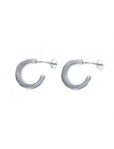 Pendientes de plata aro cuadrado para mujer 9107687