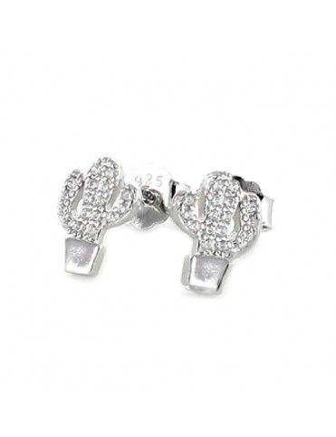 Pendientes de plata cactus para mujer 9108351