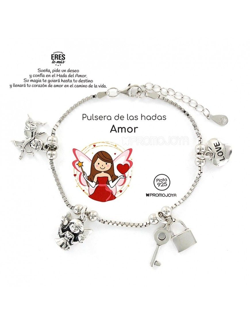 Pulsera de plata Hada del Amor 9109389