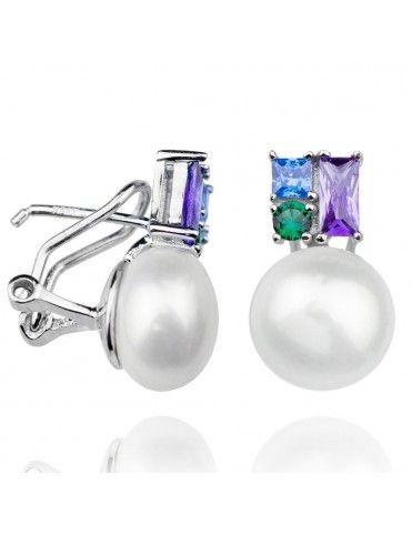 Pendientes de plata con perla 149878