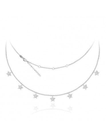 Collar de plata con estrellas 174995