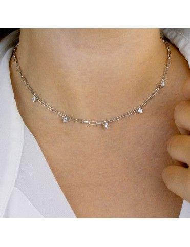 Collar de plata con circonitas 175064