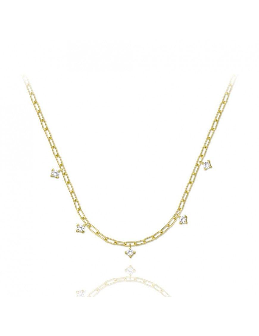 Collar de plata chapada en oro 175065