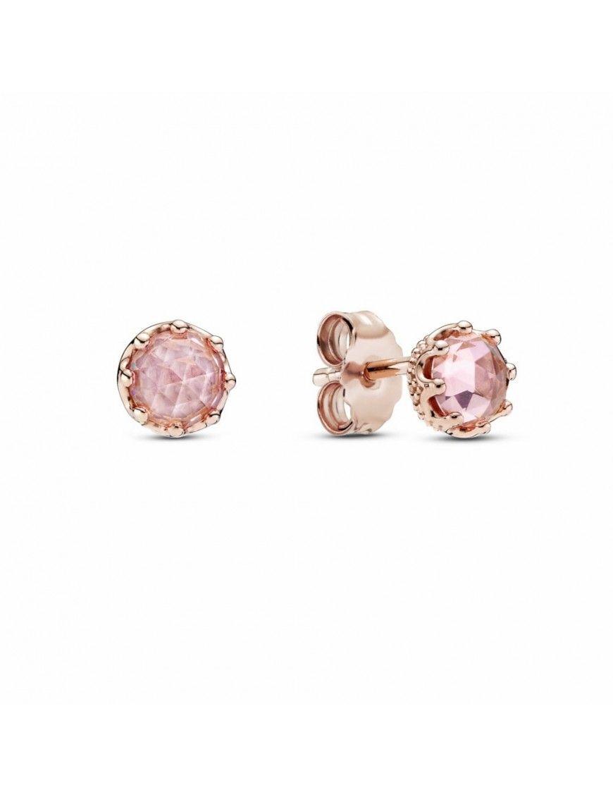 Pendientes Pandora Rose Corona Rosa Brillante 288311C01