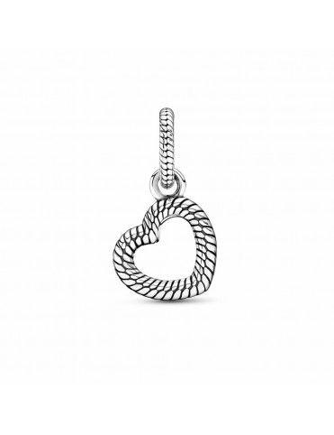 Colgante Pandora Cadena de Serpiente y Corazón Abierto 399094C00