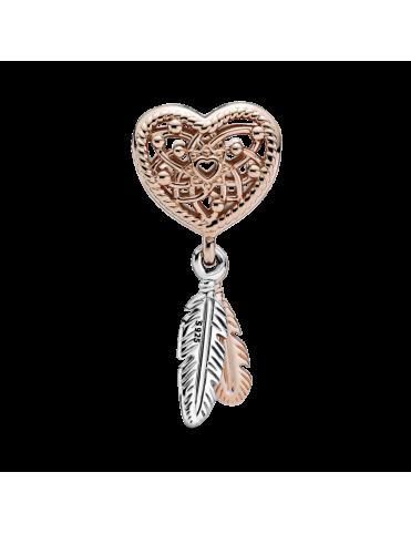 Charm Pandora Rose Atrapasueños Corazón y Plumas 789068C00
