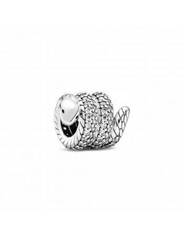 Charm Pandora Serpiente Enroscada Brillante 799099C01