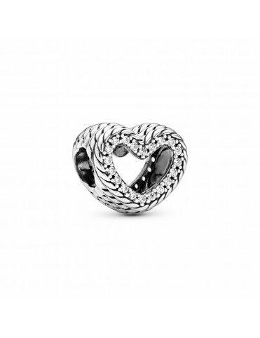 Charm Pandora Corazón filigrana Cadena de Serpiente 799100C01