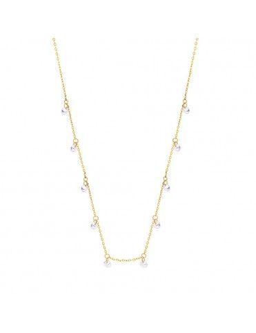 Collar Lotus Silver con circonitas LP3002-1/2