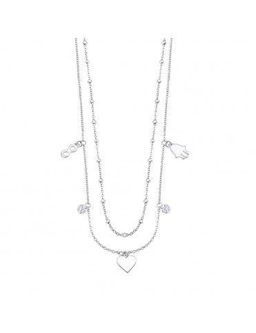 Collar Lotus Silver con colgantes LP3006-1/1