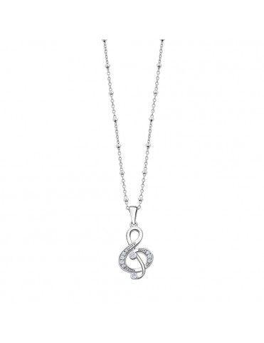 Collar Lotus Silver con clave de sol LP3018-1/1