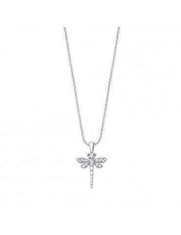 Collar Lotus Silver con libélula LP3019-1/1