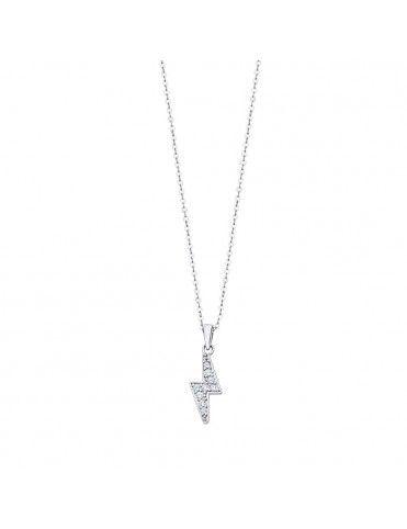 Collar Lotus Silver con rayo LP3020-1/1
