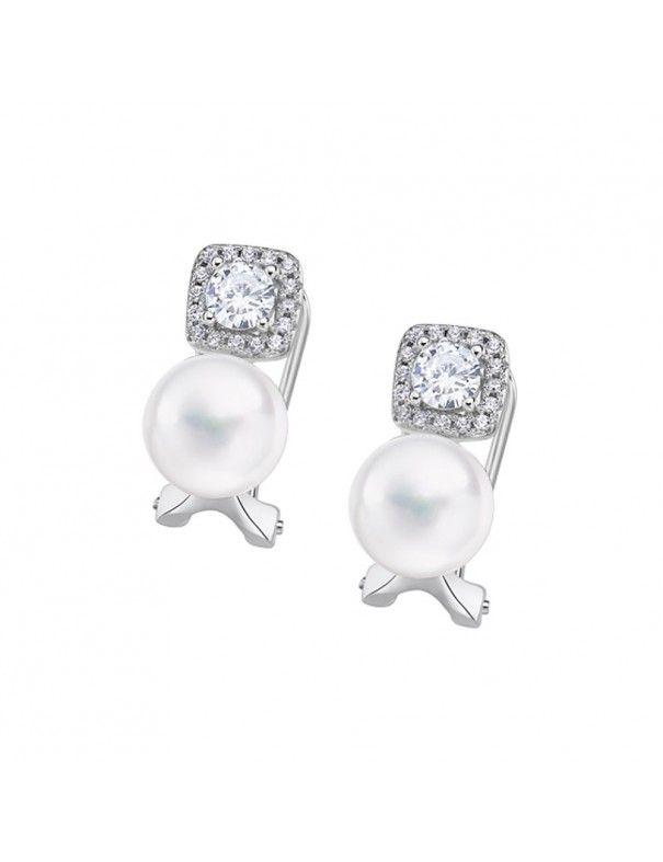 Pendientes Lotus Silver con perla LP3028-4/1