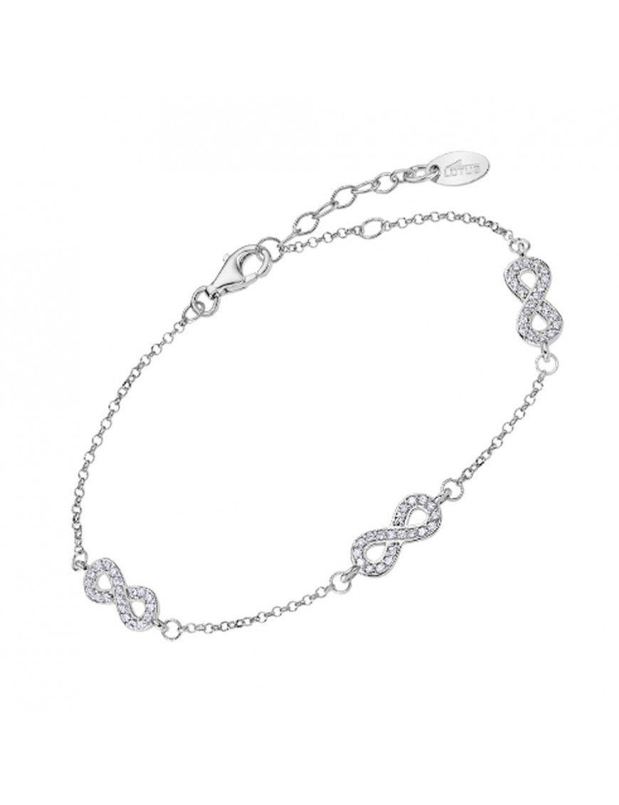 Pulsera Lotus Silver con infinitos LP3029-2/1