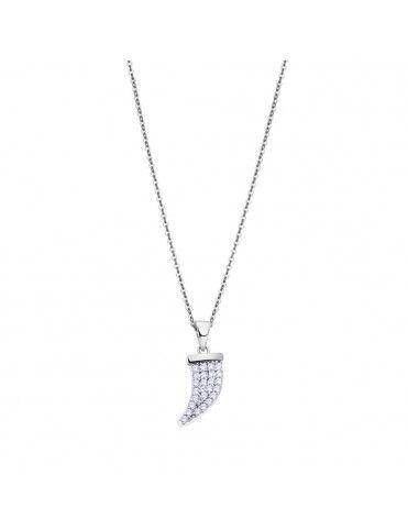 Collar Lotus Silver con colmillo LP3063-1/1