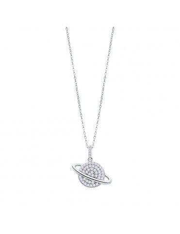 Collar Lotus Silver con planeta LP3071-1/1