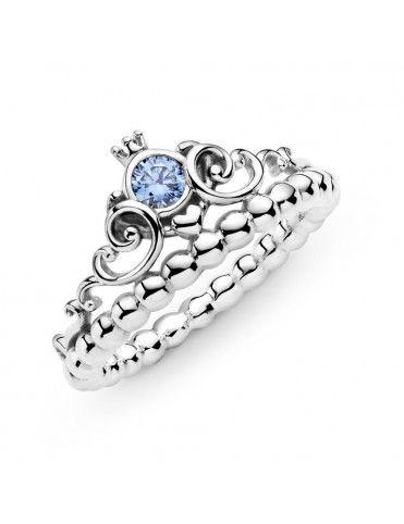 Anillo Pandora Corona Azul...