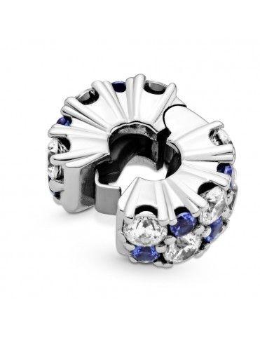 Clip Pandora Brillos Azules...