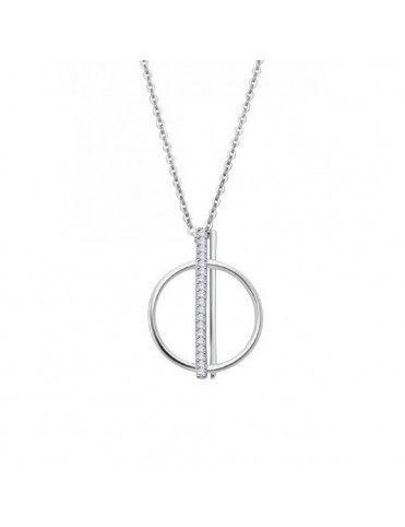 Collar Lotus Silver Círculo...