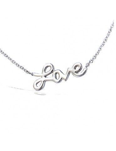 Collar De Plata Love 51ER040