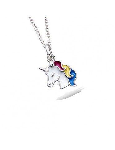 Collar De Plata Unicornio...