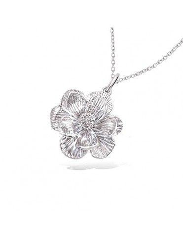 Collar De Plata Flor 61HX0660