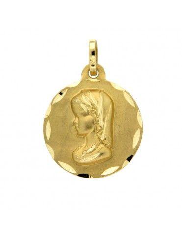 Medalla Oro Virgen 18Kts...