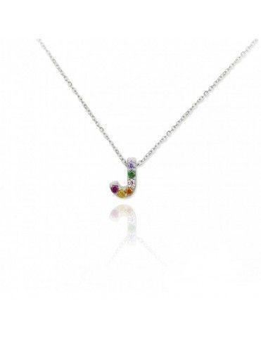 Collar Plata Letra J 175038