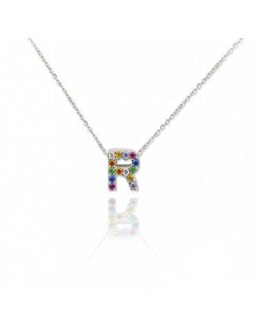 Collar Plata Letra R 175050