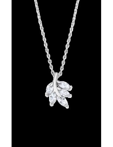 Collar Lotus Silver Mujer...