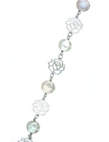 PULSERA PLATA PERLAS AS999