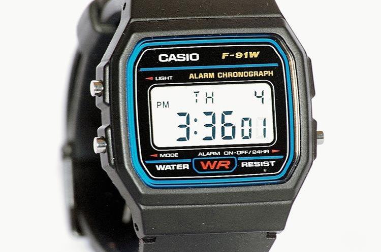 Reloj clásico de Casio de los años 80