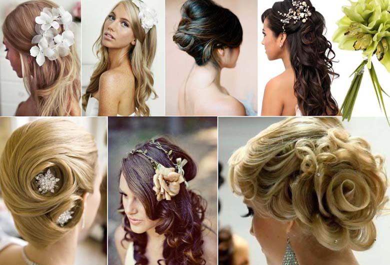 pendientes y peinado novias