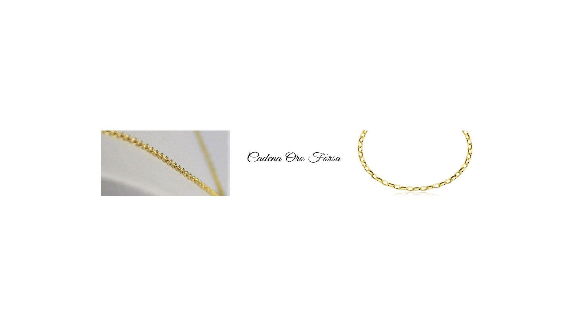 Cadena de oro Forsa de 50 cm
