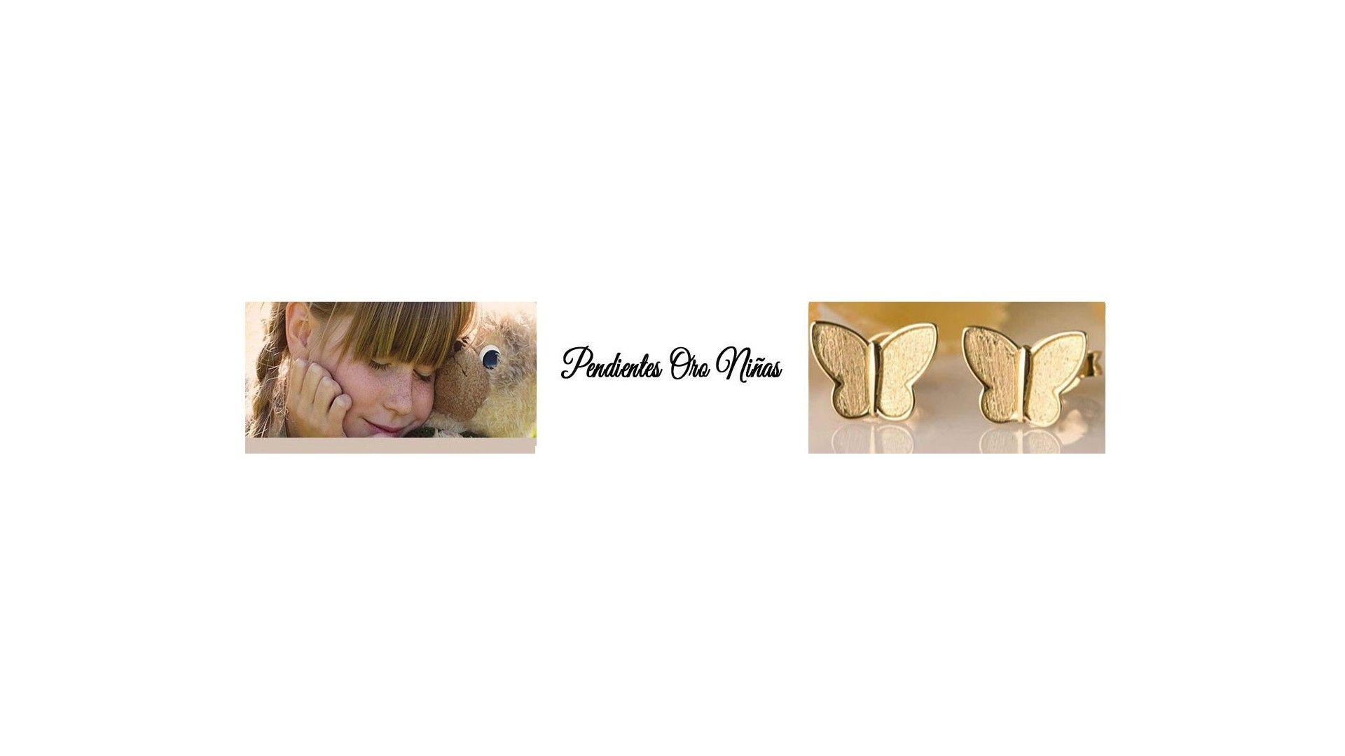 Los pendientes de oro son el regalo perfecto para nuestras pequeñas